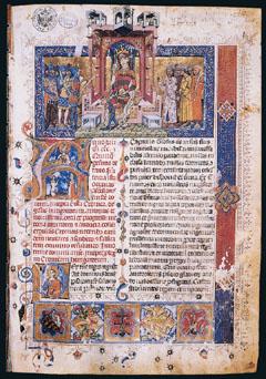 Egy lap a magyar reneszánsz korból, Mátyás király híres Corvináiból