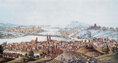 Hajóhíd Pest és Buda között