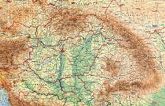 A Kárpát-medence térképe