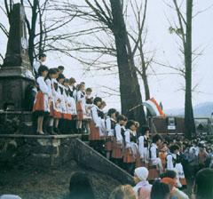 Március 15-i ünnepség a Székelyföldön, Parajdon