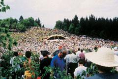 Félmillió hívő vett részt Csíksomlyón a pünkösdi búcsú szentmiséjén 1996-ban