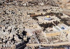 Jeruzsálem madártávlatból. A zsidók, a keresztények és a muzulmánok szent városa