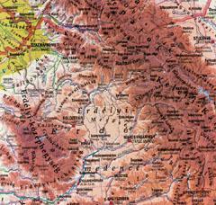 Az Erdély térképe
