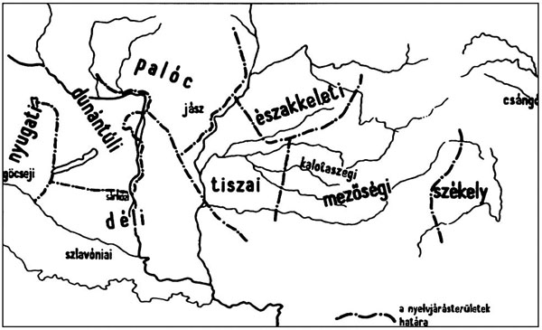 nyelvjárások térkép MAGYAR NEMZETISMERET   illusztráció